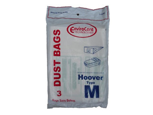 Hoover M Vacuum Bags Vac 4010037M Dimension Canister 113SW EnviroCare [27 Bags]