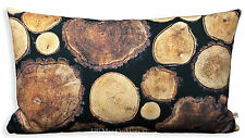 Ikea Margareta Wood Effect Brown Charcoal Black Sofa Cushion Pillow Cover