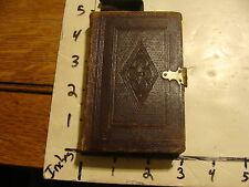 vintage book: LEATHERBOUND NEW TESTAMENT, 1862, T. Nelson & Sons Publishers