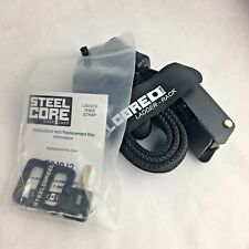 SteelCore Outdoors Locking Tie Down Ladder Security  Strap - black -  3' -  Lock