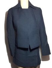 Vintage Catherine Malandrino Paris Dark Blue Mini Skirt Suit Size 4 EUC