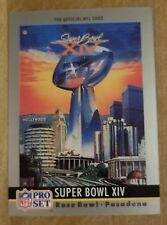 NFL Pro Set 1990 Super Bowl IV Collectable Card