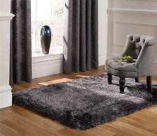 Pearl Dark Grey Charcoal Thick Shaggy Rugs 80x150cm