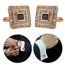 Luxury Gold Silver Square Cufflinks Men's Wedding Party Shirt Suit Cuff Link