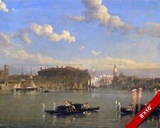 LA GIUDECCA VENICE ITALY CANALS BEAUTIFUL SCENE PAINTING ART REAL CANVAS PRINT