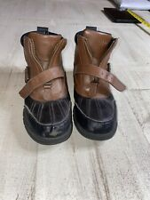 Polo Ralph Lauren Colbey Leather Boots Kids Boys Sz 4 Brown Black Hiking