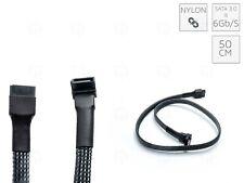 BLACK ADDER SATA3 - 6Gbps Nylon Braided Cable Sleeved Right-Angle 50 cm Sata 2