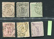 Nederland nvph 13 / 18, serie Wapen-zegels 1869, gebruikt; opruiming, sale