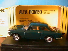 ALFA ROMEO GIULIA SPRINT GT 1963 DARK GREEN PROGETTOK 041b 1/43