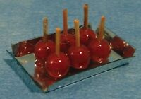 Tray of Toffee Apples, Dolls House Miniature, Kitchen, Bonfire, Food & Drink