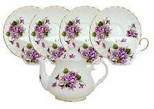 Wild Violets Bone China Tea Set For Four Made In England