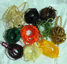Ric Rac BRAID 1/4 inch size - 1 Metre each of 10 AUTUMN Colours