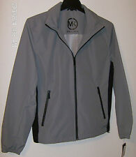 Michael Kors Mens Jacket Small Titanium Collar Hood Zip Front NWT $200 Washable