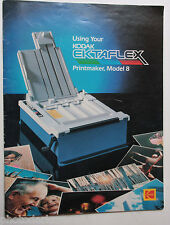 Kodak Ektaflex Printer Model 8 Instruction Owners Manual Guide Book - USED B59