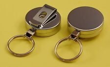 YoYo (Yo-Yo) ID Badge / Card Key Ring Reel, Chrome