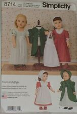 "Doll Clothing Pattern - Fits 18 "" American Girl 8714"