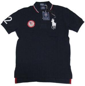 $145 Polo Ralph Lauren Mens USA Olympic Team London Custom Slim Big Pony Shirt