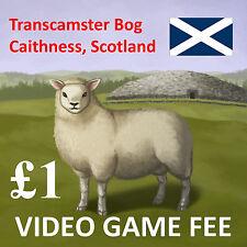 Transcamster Bog, Scotland: Video Game Fee Stamp (Revenue Stamp)