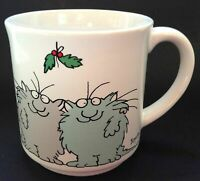 Sandra Boynton Coffee Tea  Mug Together Again for the Holidays Cats Holly