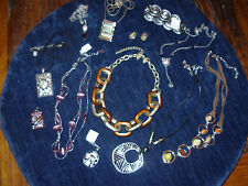 HUGE LOT LIA SOPHIA & KIAM JEWELRY SOME W/ TAGS ENAMEL LINK NECKLACE & TORT.SHEL