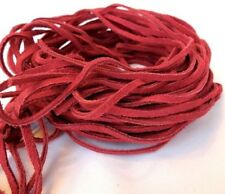"""16 Leather Strips 35"""" Suede leather Lace, Lacing, Red"""
