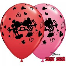 Party Supplies Birthday Disney Mickey & Minnie XOXO Latex Balloons Pk 10