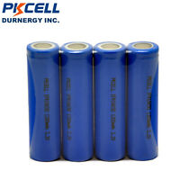 4 X IFR 18650 Li-FePO4 Rechargeable Batteries 3.2V 1200mAh Cell PKCELL