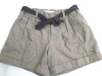 ZARA girls soft warm shorts brown city shorts with pockets (c33) FreeP&P