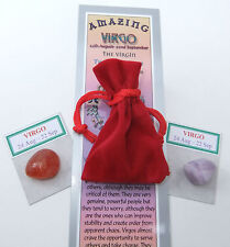 "Virgo-bookmark-birthstones-red Velvet Pouch - ""Astrology il codice segreto"" LIBRO"