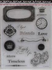 Princesa Elegante amigo Transparente Sellos 16 diseños (1760) cardmaking Scrapbooking