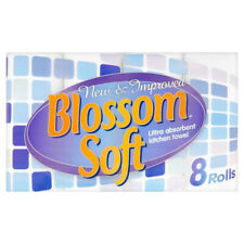 24 White Kitchen Paper Towel Rolls Blossom Soft Ultra Absorbent 2 ply 3 x 8 Pack