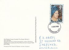 Postal (94912) GB PHQ FDI reina madre 80th Cumpleaños Loughborough agosto de 1980