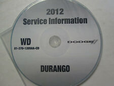 2012 DODGE DURANGO SUV Service Shop Workshop Repair Manual CD