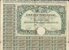 DECO => CRÉDIT NATIONAL 1920 (X)