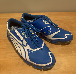 Rare Mens 9 PUMA IdCell S2 Quill Golf Shoes Rickie Fowler Blue White