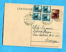£.3 (C131) + DEM.c.25 DUE COPPIE  ann.APECCHIO, 18.04.47  (238065)