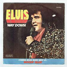 "Elvis PRESLEY Disque 45T 7"" SP WAY DOWN - PLEDGING MY LOVE - RCA 0998 F Reduit"