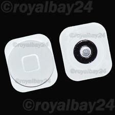 IPHONE 5 Home Button + plaquetas de Metal botón, Tecla Botón Reemplazo Blanco 5G