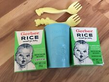 Vintage Gerber Cup and Rice Box for Doll