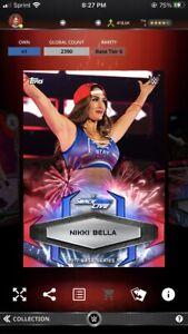 Topps WWE Slam *Digital* 2017 Fireworks Base Variant  - Nikki Bella 2390cc