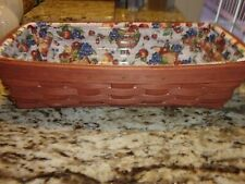 New ListingLongaberger Bread Basket With Liner And Protector