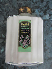 VINTAGE POTTER & MOORE'S MITCHAM LAVENDER PERFUMED TALCUM POWDER GLASS BOTTLE