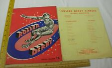 Los Angeles Braves v SD Clippers Olympic 1955 SIGNED by 11 Roller Derby program
