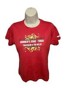 2012 Runners Edge Tobay Triathlon & Tri Relay Swim Bike Run Womens Red XS Jersey