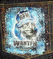 FATHEAD APPAREL Men's Jeans EMBELLISIHED SWAROVSKI CRYSTAL 40W 32L Ben Franklin