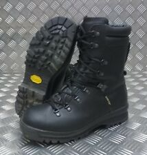 Genuine British Military Goretex Cold Wet Weather Assault Black Leather Boots