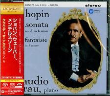 CLAUDIO ARRAU-CHOPIN. WEBER. MENDELSSOHN-JAPAN SACD HYBRID G88
