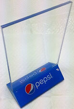 """New Pepsi restaurant supply menu or specials clear acrylic 4"""" X 6"""" displayette"""