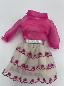 Vintage Mod 1969 Barbie Happy Go Pink Dress #1868