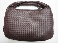 Bottega Veneta Medium Intrecciato Ebano Brown Nappa Leather Hobo Bag NWT